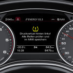 RDKS Reifendruckkontrollsystem Meldung