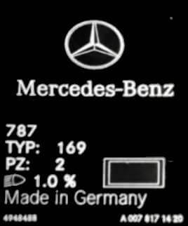 Wo finde ich den Farbcode bei Mercedes