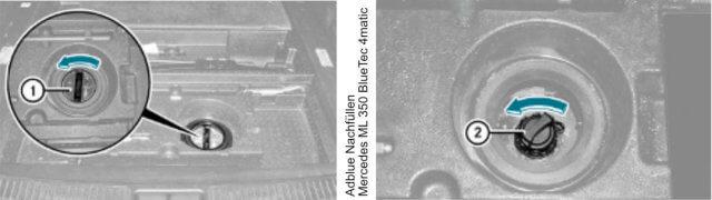 Mercedes-ML-Adblue-Nachfuellen